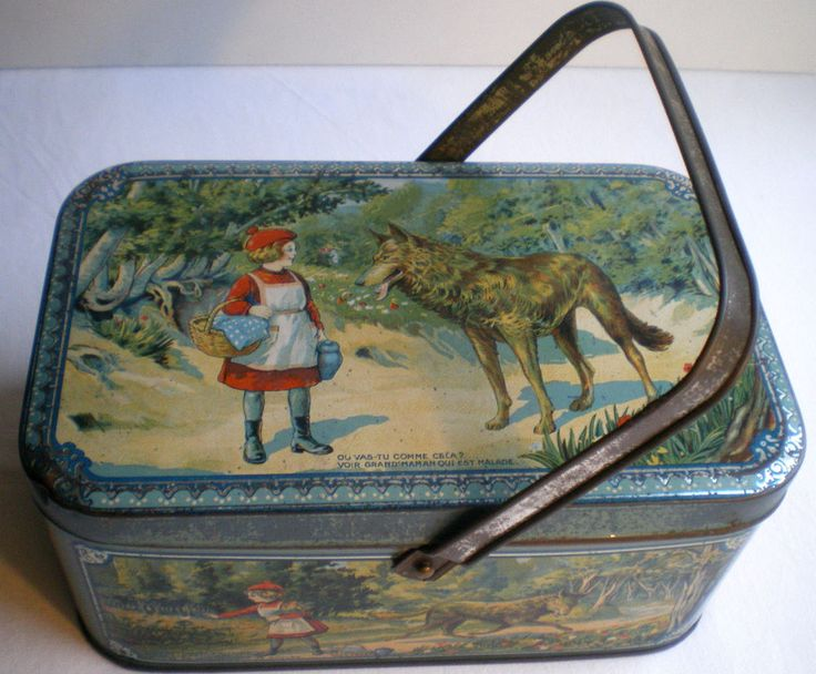 Little Red Riding Hood biscuits tin 1900