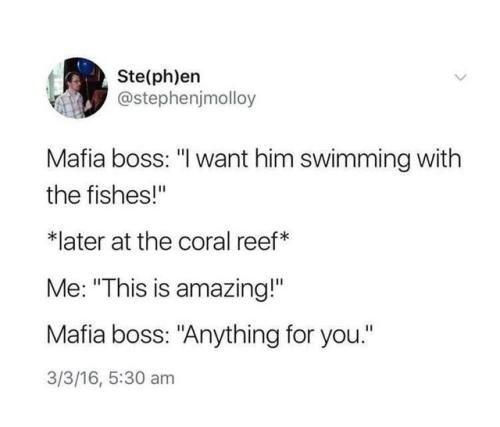 Good mafia boss!
