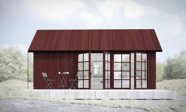c/o 25 Attefallshus: komplementbostadshus på 25 kvm | Sommarnöjen