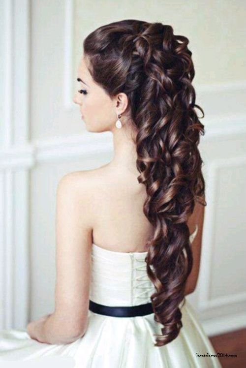 wedding hair DOWN not up like everyone else