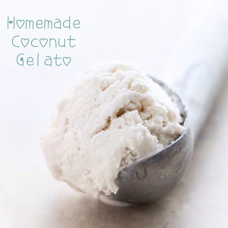 Dairy free sugar free homemade coconut ice cream