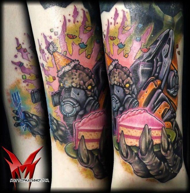Halo Grunt Birthday Tattoo, as seen on @Tiffany Flaherty...Omg I'm in love!