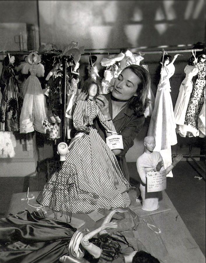 Elaine Bonabel, the artist responsible for the design of the mannequin prototypes of the Theatre de la Mode~Image credit: Ronny Jaques