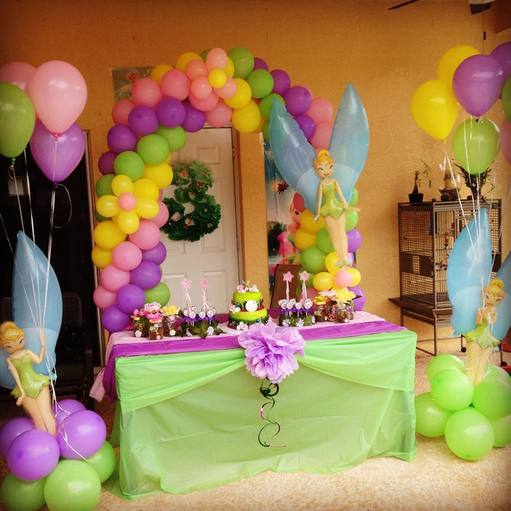 Tinkerbell balloons baby bebe loves tinkerbell pinterest tinkerbell party tinkerbell and - Party decorations ideas ...