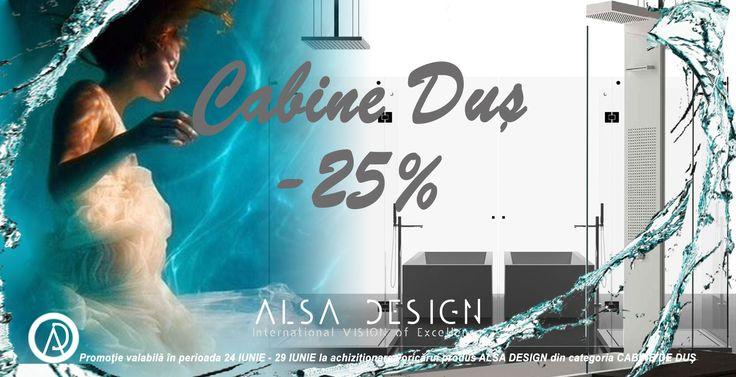 ALSA DESIGN- promotie cabine de dus   http://www.alsadesign.ro/