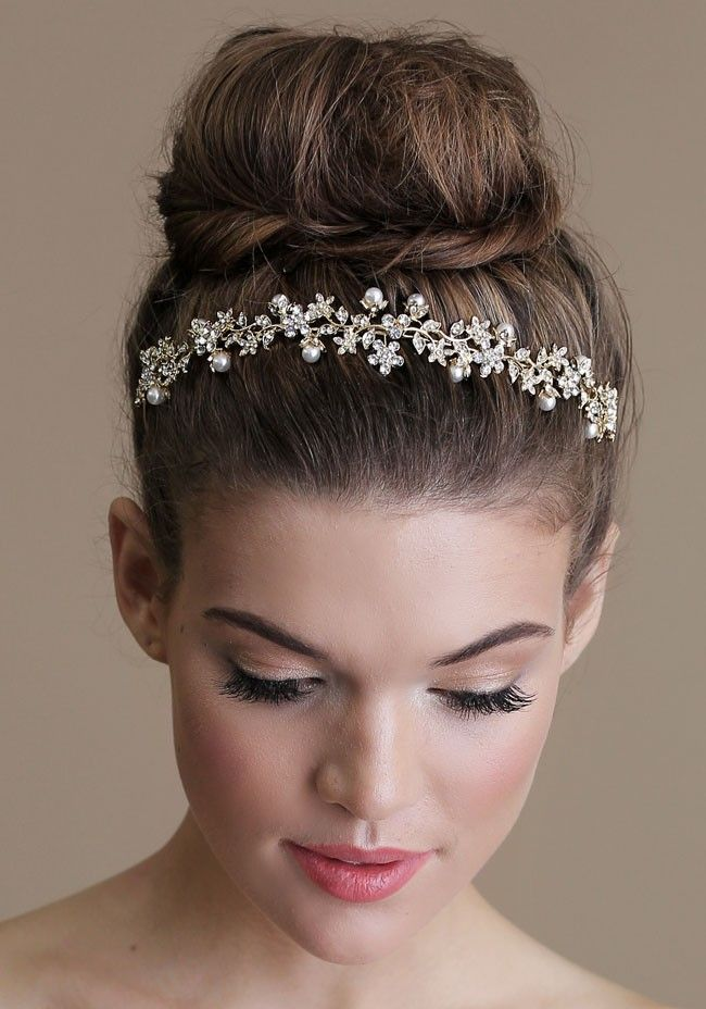 wedding hair buns styles ballerina bridal bun we this moncheribridals 4831