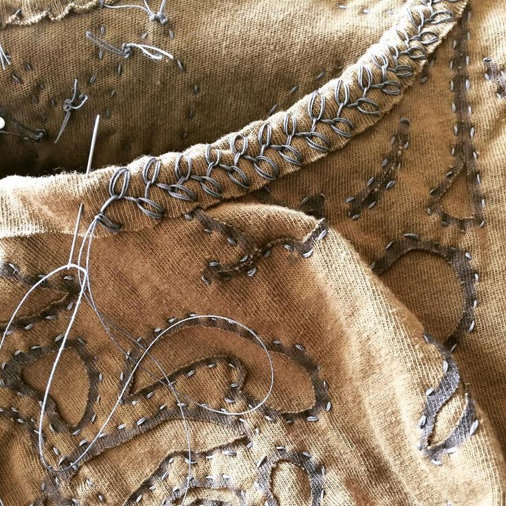 """44 Likes, 8 Comments - Tracey Hogan (@featherstitchavenue) on Instagram: """"Working on an Alabama Chanin dress today. Loving the rosebud stitch!! #handsewing…"""""""