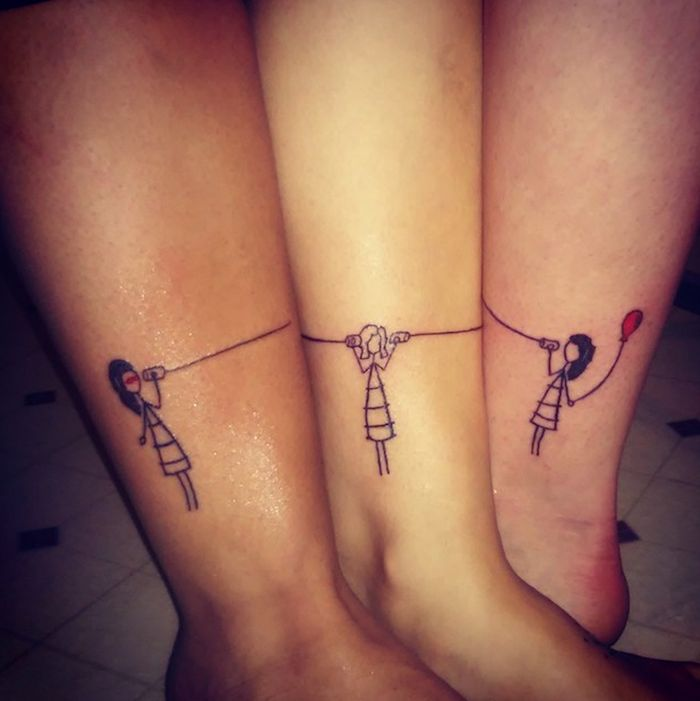 ▷ 1001 + ideas for sibling tattoo motives for borrowing