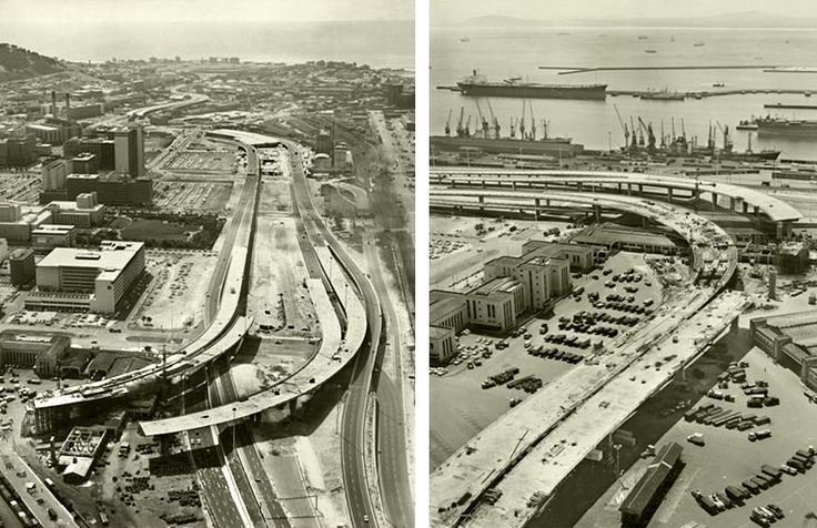 Foreshore Flyovers taking shape,1976. | Etienne du Plessis | Flickr
