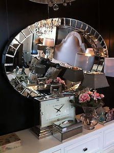 NEW FRENCH STUNNING OVAL BEVELLED ART DECO WALL MIRROR