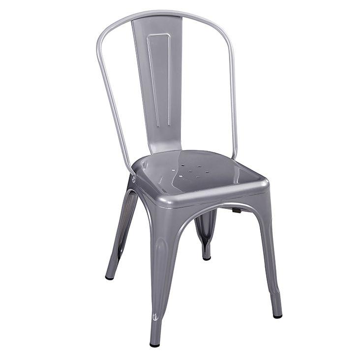 Silla comedor · Dinning room chair Iron gran réplica de Tolix. Disponible en varios colores. Diseño industrial. #ArmonySpaceBCN