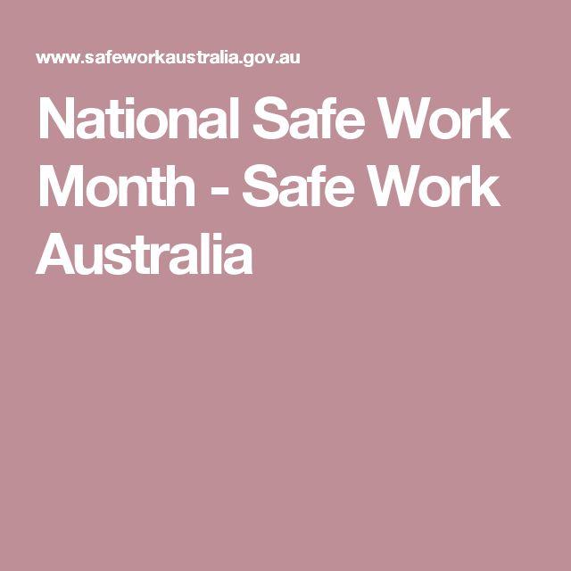National Safe Work Month - Safe Work Australia