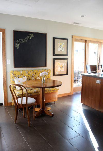 Kitchen Breakfast Nook, Finished! : PepperDesignBlog.com