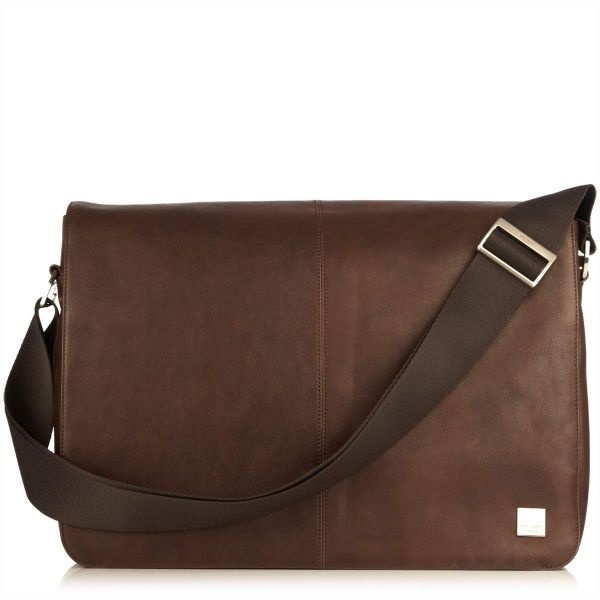 "Genuine Baggage - Knomo Bungo 15.6"" Brown Leather Messenger Bag, $419.00 (http://www.genuinebaggage.com.au/knomo-bungo-15-6-brown-leather-messenger-bag/)"