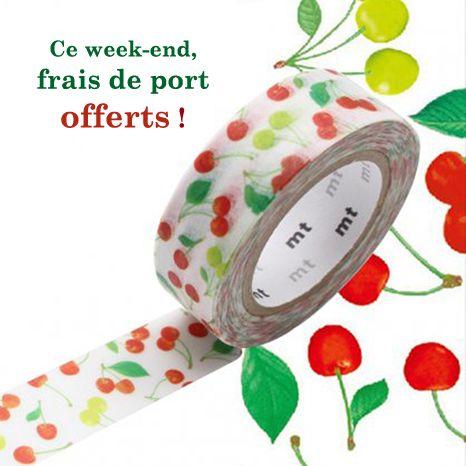 Ce week-end les frais de port sont offerts sur maskingtape.fr