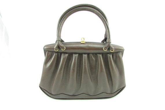 Vintage calf leather bag 60's by UmmagammaVintage on Etsy