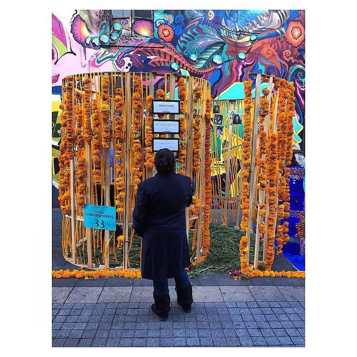   Día de Muertos   Our Ofrenda-pavilion is currently in display on Regina Street in Mexico City, the idea is to go out of the regular city life to ponder about what's happening in ones life an take a moment to remember our love ones that are already gone.//// Nuestra Ofrenda-pabellón se encuentra en exposición en la Ciudad de México en la calle de Regina, la idea era representar los hechos que acontecen y adolecen a nuestro pais así como tomar un momento para salir de la vida cotidiana de la…