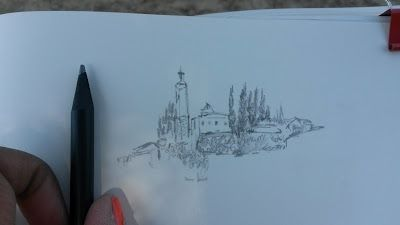 Dal mio sketchbook / Paese in collina