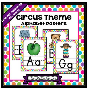 FREE!!!! Circus Theme Alphabet Posters. Decorate your classroom with these bright alphabet posters!