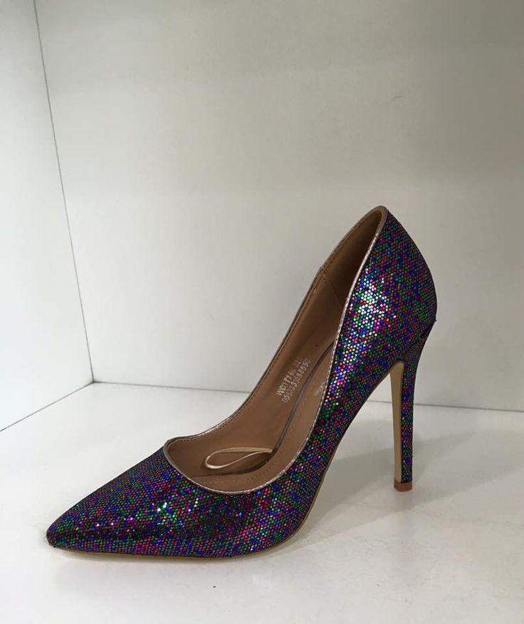 Linda Multi Colour Sequin Heels