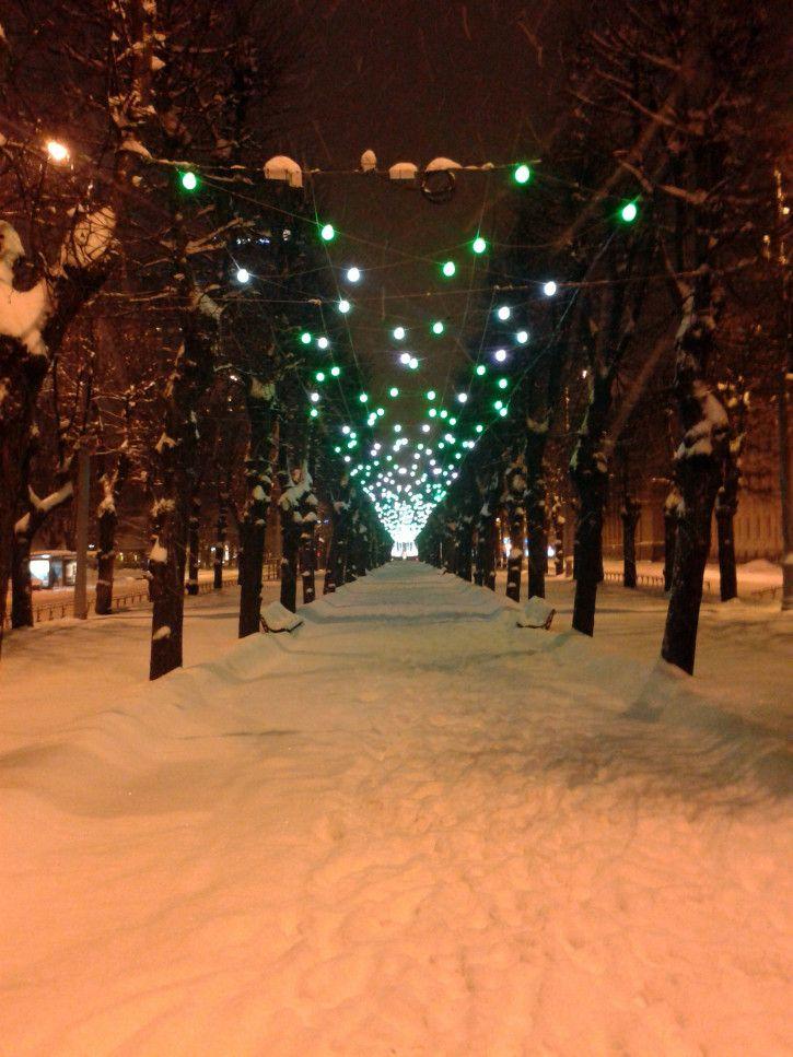 Winter in Riga, Latvia
