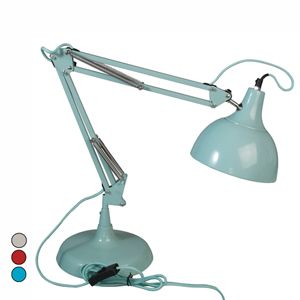 Lampe de bureau articulée en métal (4 coloris) Rex International