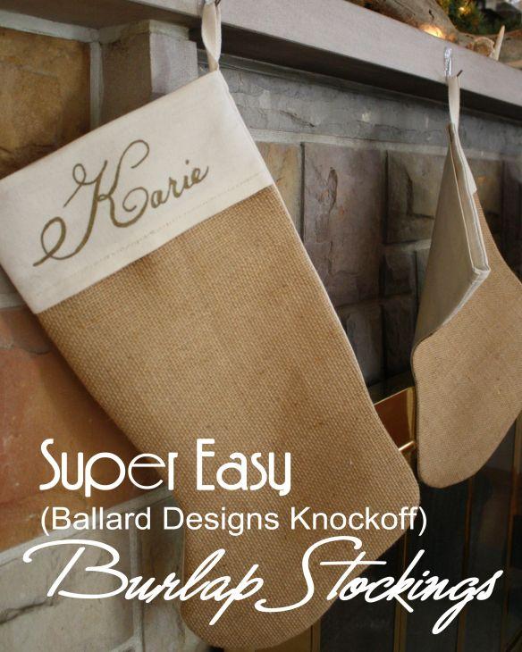 Super Easy Burlap Stockings