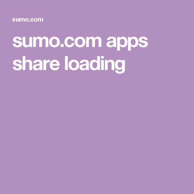 sumo.com apps share loading