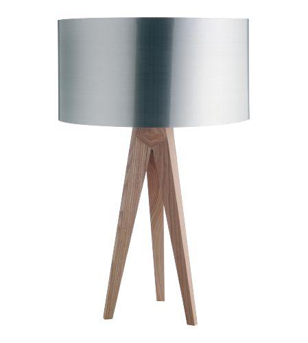 Tripod pied de lampe en bois (www.habitat.fr)