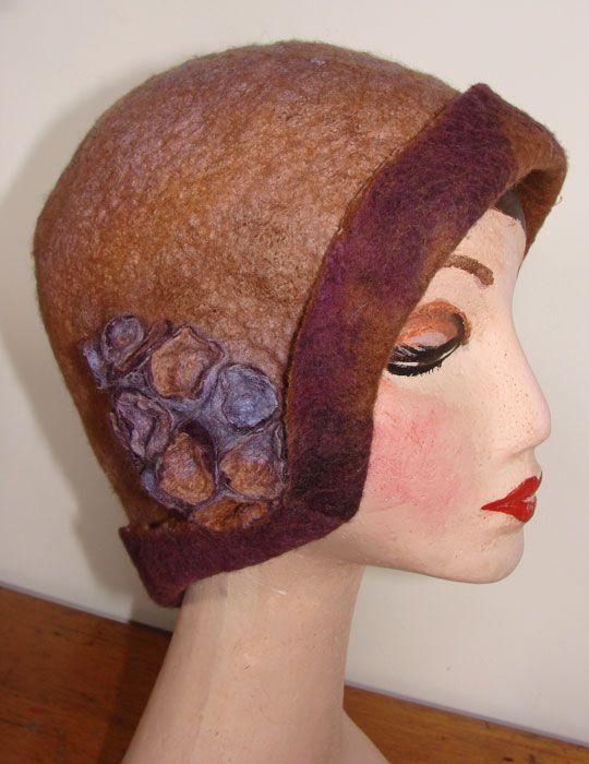 Wool & silk hat with shibori  by Jan Bosher