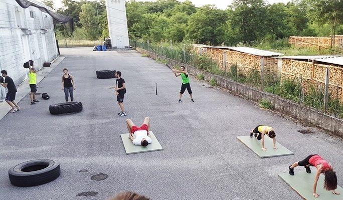 WTA Functional Training Codroipo - Tiger Warriors allenamenti di luglio all'aperto- occupazione dell'asfalto!