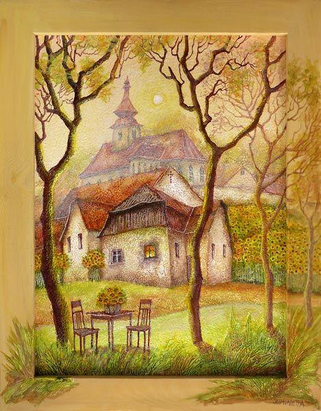 Doma je tam, kde na tebe vždy někdo čeká... (29x39 cm, s rámem 37x47 cm)