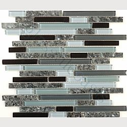 I think this is the perfect backsplash -- if it goes with our paint!!! Glass & Granite Midnight Sparkle GG-15