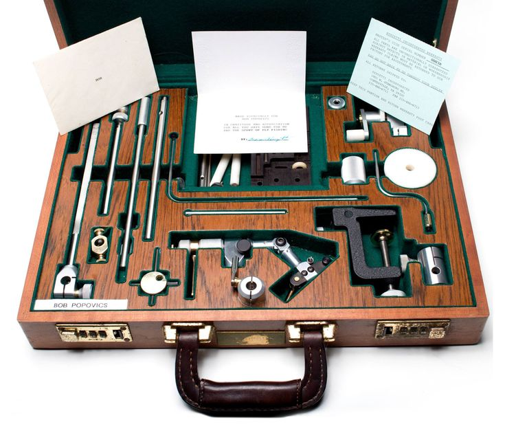 Renzetti's ulitmate bling - A special made luxury box with a Renzetti Master vise and all extras.