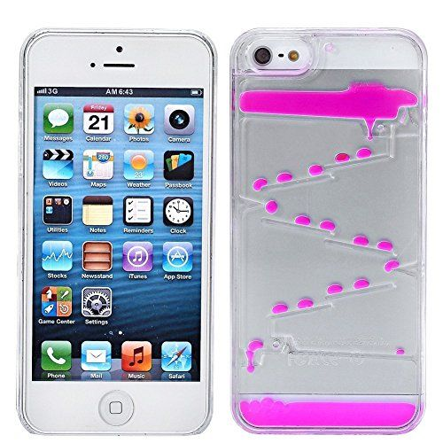 """T-Skin iphone 6 4.7"""" Creative Water Droplets Design Flowing Liquid Swimming Magic Maze Transparent Plastic Hard Case for Apple iPhone 6 4.7 inch Released on 2014 + 1pcs Wristband (Rose)"""