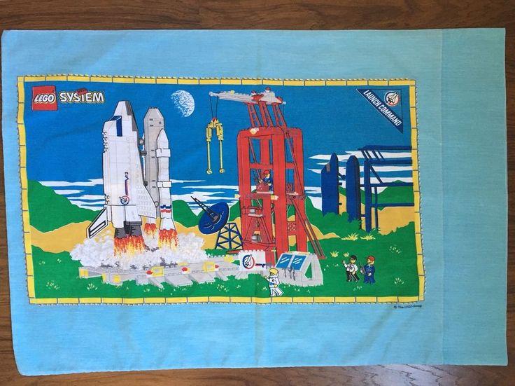 Lego System Vintage Pillowcase Standard Launch Command Aquazone Space Shuttle  | eBay