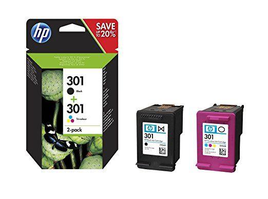 HP N9J72AE Cartuccia d'Inchiostro Originale, Volume 3 ml, 1x Nero + 1xTricromia(Ciano, Giallo, Magenta)