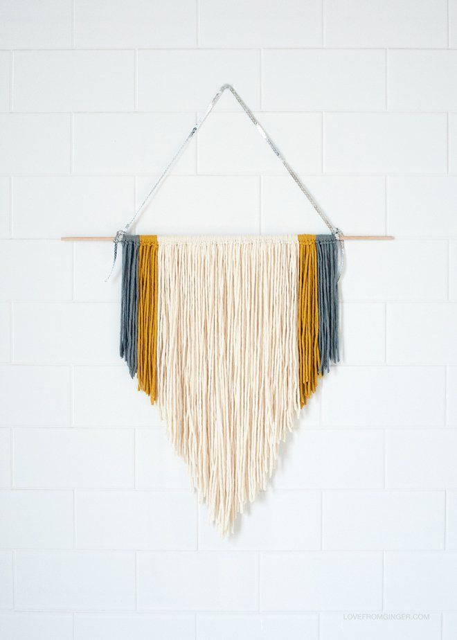 DIY Easy Macrame Wall Hanging. This would be a cool thing to try out for https://maddieandmarge.etsy.com