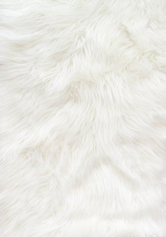 Solid White Shaggy Long Pile Faux Fur Fabric By The Yard 60 Wide Available In Different Colors In 2020 Faux Fur Fabric Wallpaper Fur Fur Background
