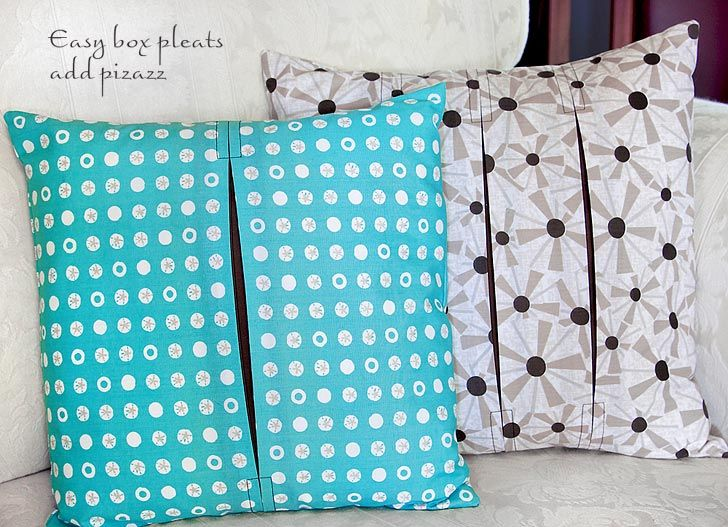 Organic Cotton Box-Pleat Pillows