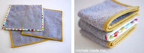 The Old Towel New series is a little collection of crafty repurposing projects where old (and, possibly grubby) towels are fashioned into pretty, fresh, and useful things.Today's project is a quick and quiet one. A no-brainer, in fact! It goes a
