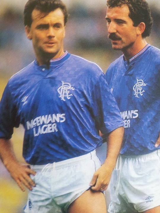 Davie Cooper and Graeme Souness two of the greatest Rangers from my time!! R.I.P Super Cooper