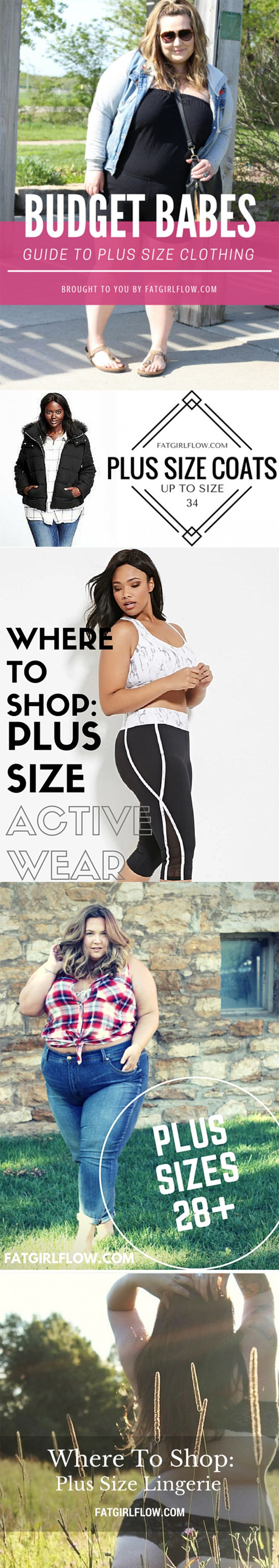 The Best Plus Size Shopping Guides! Links to hundreds of trendy plus size items and stores! Only at Fatgirlflow.com