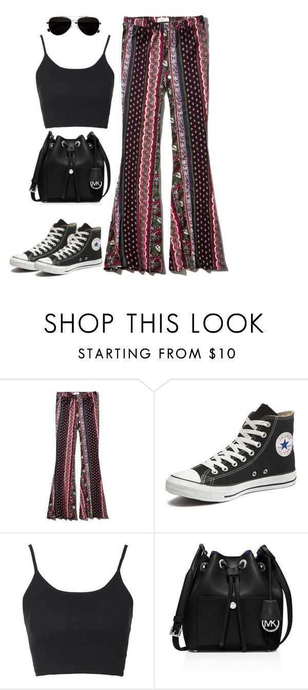 """""""Untitled #454"""" by christyandnef on Polyvore featuring Abercrombie & Fitch, Converse, Topshop, MICHAEL Michael Kors, Calvin Klein, women's clothing, women, female, woman and misses"""