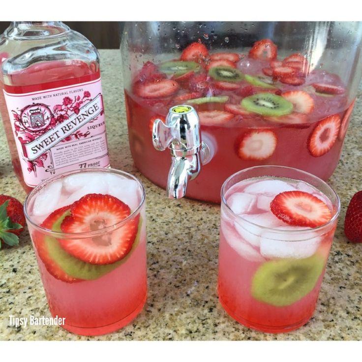 Sweet Revenge Strawberry Jungle Juice! For the recipe, visit us here: www.TipsyBartender.com