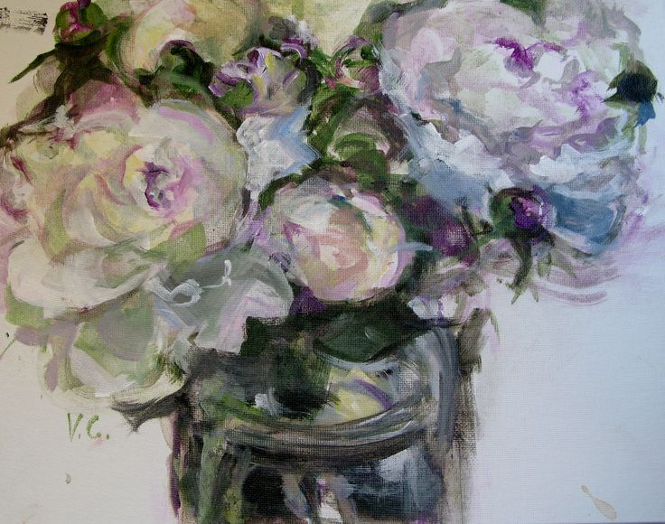 For the Love of Peonies, Acrylic