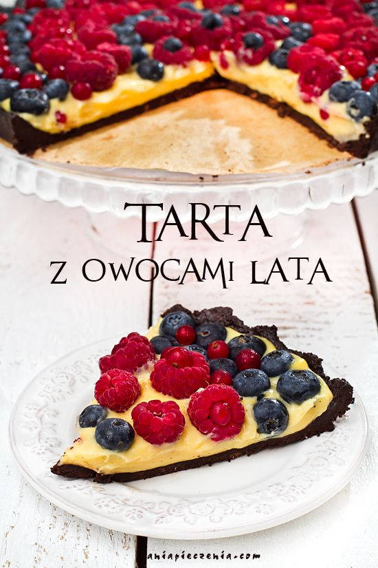 Szybka tarta z owocami lata - bez pieczenia / No Bake Summer Fruit and Chocolate Tart