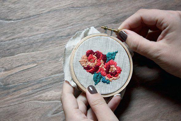 Como fazer bordado Russo