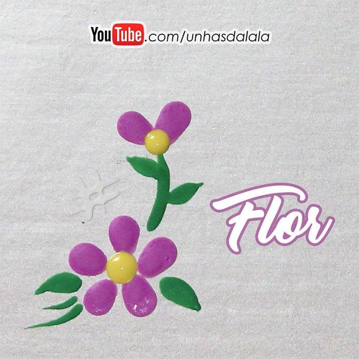 Essa flor ficou uma delicadeza só gente! Ela fica ideal para colocar nas unhas dos pés (nos dedões) ou nas unhas das mãos.