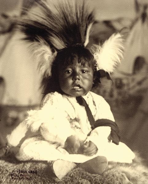Sioux Child– Frank Fiske photo; True West archives –